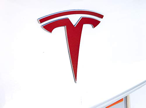 Nikola Pro Tesla Model 3 Logo Decal Wrap Kit (Gloss Red)