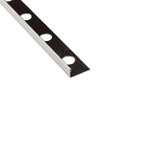 10x L-Profil Edelstahlschiene Fliesenprofil Fliesenschiene Edelstahl V2A L250cm 10mm glänzend