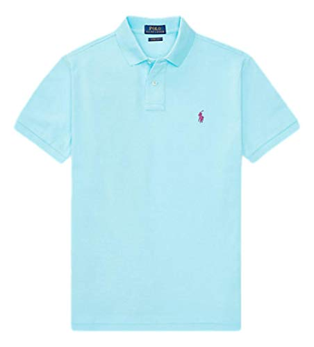 Photo of Ralph Lauren Men's Polo Shirt Classic Fit Short Sleeve (M, Hammond Blue)