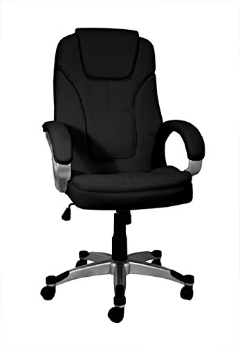 La Chaise Spaanse bureaustoel Valencia 68x74x123 cm zwart.