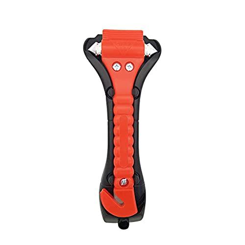 KKnoon Martillo de emergencia 2 en 1, martillo de seguridad y cortador de cinturón de seguridad, herramienta de emergencia y rescate con soporte negro para coches, autobuses y camiones – 1 pieza