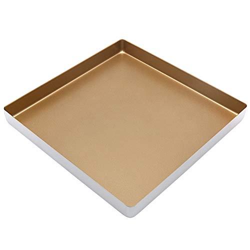 11 Inch Square Baking Pan, Nonstick Aluminum Alloy Baking Sheet Pan/Square Cookie Sheet/Toaster Oven Pan (11x11 Inch)