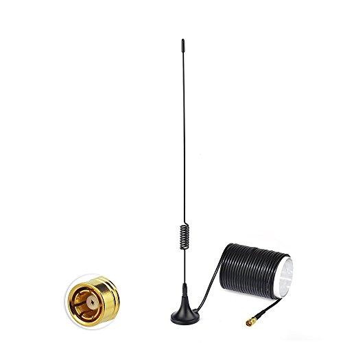 Bingfu Dab Antenne de Voiture SMB Adaptateur Prise Antenne Radio Câble Extension 5m/6.40ft Support Magnétique Antenne pour Blaupunkt Pioneer Clarion Kenwood Alpine JVC Tuner Dab+