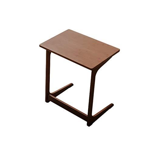 ZXL bamboebed tafel, moderne eenvoud creatieve salontafel laptop bureau (60 cm * 40 cm * 65 cm) (kleur: kastanjebruin, maat: vast oppervlak)