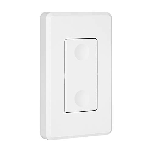 DEWENWILS Interruptor de pared por radio, no requiere cable, alcance de 30 m, color blanco (para DHRLS11C, DHRSO01A)