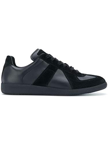 Maison Margiela Luxury Fashion Herren S57WS0236P1897900 Schwarz Leder Sneakers   Jahreszeit Permanent
