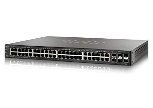 Cisco SG350X-48P Gigabit-PoE-Managed Switch (stapelbar) mit 48 Ports (SG350X-48P-K9-EU)