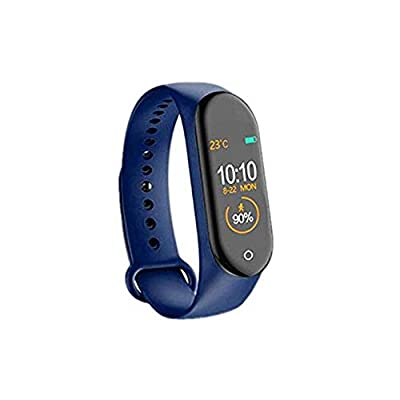 AMILIEe Fitness Tracker, Activity Tracker Wristband with Heart Rate Monitor Blood Pressure Measurement, Waterproof IP67 Sports Wrist WatchesCounter Smart Bracelet for iOS Android (Blue, 1)