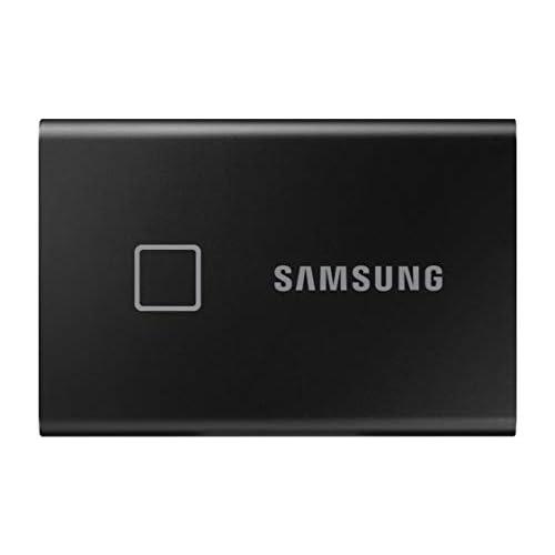 Samsung Memorie T7 Touch MU-PC500K SSD Esterno Portatile da 500 GB, USB 3.2 Gen 2, 10 Gbps, Tipo-C, Nero