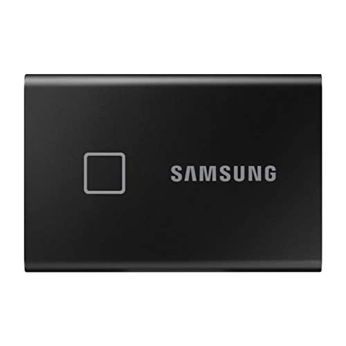 Samsung Memorie T7 Touch MU-PC1T0K SSD Esterno Portatile da 1 TB, USB 3.2 Gen 2, 10 Gbps, Tipo-C, Nero