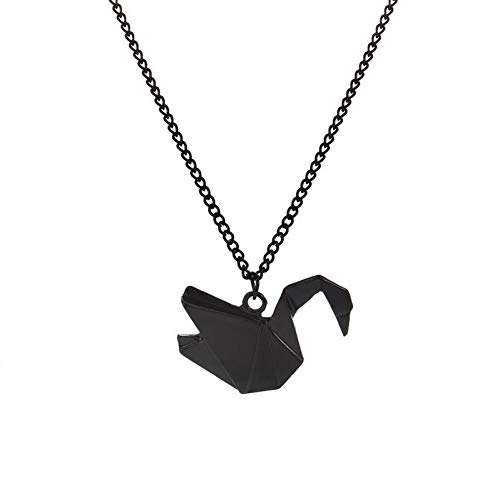 TIGOWL Nuevas mil grullas de Papel Hollow Dove Origami Pigeon Long Animal Necklace Bird Pendant Necklace