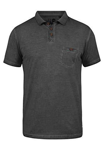 !Solid Termann Herren Poloshirt Polohemd T-Shirt Shirt Mit Polokragen Aus 100% Baumwolle, Größe:L, Farbe:Black (9000)