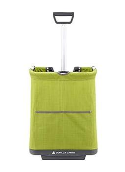 Gorilla Carts GCSS-11G-COM Collapsible Soft-Sided Folding Cart Green