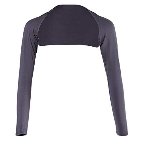 JIAN LIN 1 PC Moda Letnie Damskie Damskie Długie Rękaw Elastyczne Ramię Modal Ciepła Okładka Wzrost Ramimy Bluzki Muzułmańskie ubrania (Color : Gray)