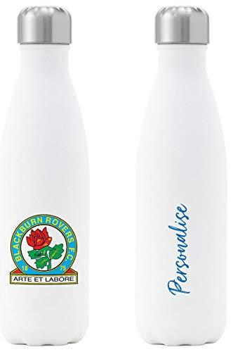 Blackburn Isolierte Trinkflasche, Motiv Rovers FC Wappen, Weiß