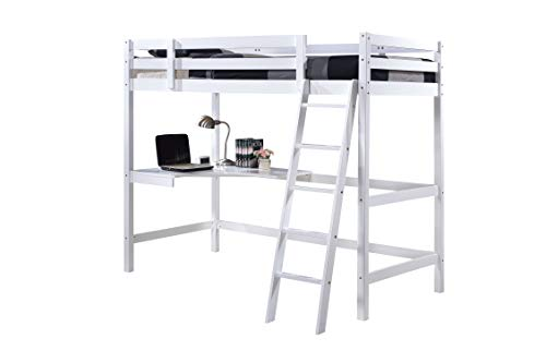 One Holding Limited Wooden Study Bunk Bed Frame, Single