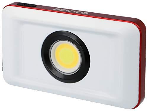 GENTOS(ジェントス) 投光器 LED ワークライト USB充電式 【明るさ1100ルーメン/実用点灯8時間/耐塵/防水】 専用充電池使用 ガンツ GZ-306 ANSI規格準拠 幅145×奥行28×高さ82mm