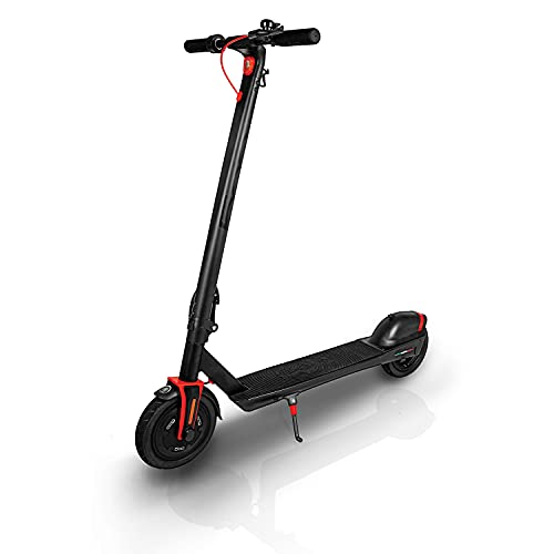 Official FIAT Electric Scooter – 350W Motor, 15MPH 3 Speed Mode, 15-20-Mile Range Battery - Portable Commuter Ride - USB Charging Port, Phone Holder, Safety Bell, Front & Rear Lights - Vesuvio Black