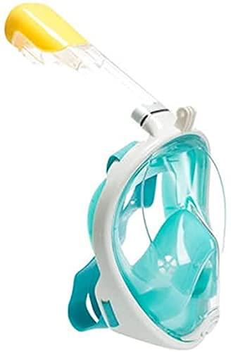 AWJ máscara de Buceo Máscara de Buceo Equipo de Buceo antivaho Completamente seco Conjunto de máscaras Adultos y niños (Color: Verde, Talla: L/XL)