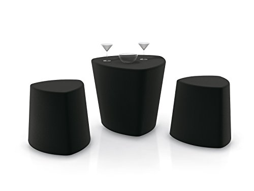 eurosilla-taburete en polyéthylène Heel couleur Noir pour cuisine, terrasse, jardin