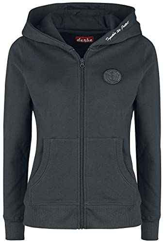 Sea Shepherd X Derbe Hamburg JF_Seehase Femme Sweat-Shirt zippé à Capuche Noir L