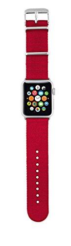 Trust Urban Nylon-Armband (geeignet für Apple Watch 38 mm) rot