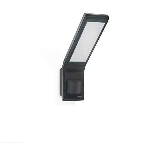 Steinel LED-Strahler XLED slim anthrazit, 10.5 W, 660 lm, LED Wandleuchte, 160° Bewegungsmelder, 8 m Reichweite