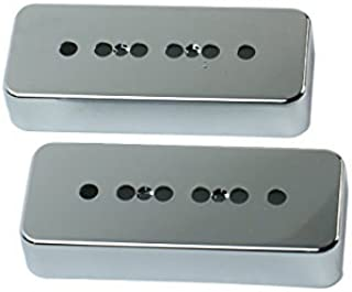 A Pair of P-90 p90 Soap-bar Pickup Covers 50/52mm Pole Spacing , Plastic Chrome Plated