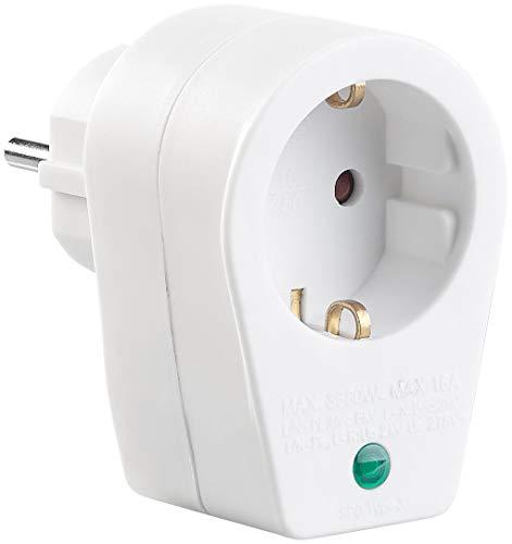 revolt Steckdose Blitzschutz: Steckdosen-Adapter mit Überspannungsschutz bis 6.000 Volt (Überspannungsschutz-Netzfilter)