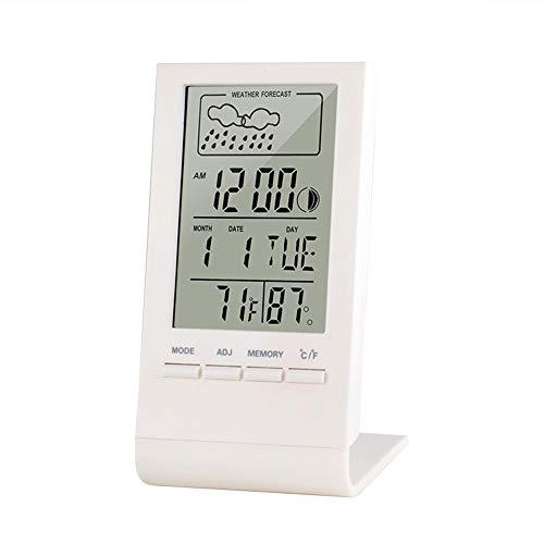YANXS Mini Termómetro Higrómetro Digital, Medidor de Temperatura Respuesta Rápida para Temperatura y Humedad del Casa Ambiente,Blanco,1pcs