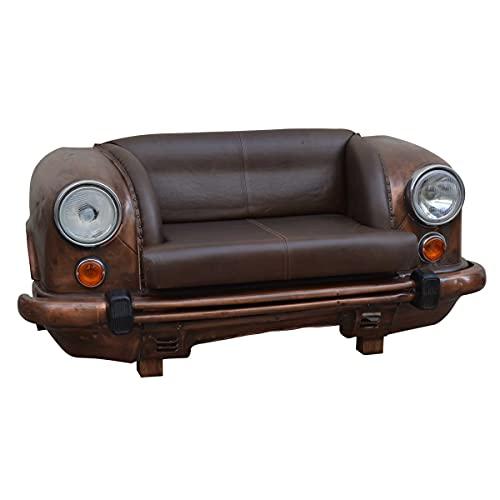 Mueble Auxiliar Decorativo Sofa Sillon Coche Vintage Retro Marron 116 cm