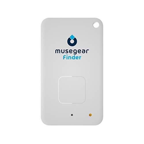 musegear Schlüsselfinder mit Bluetooth App I Flat Finder I Keyfinder laut für Handy in weiß I GPS Ortung/Kopplung I Schlüssel Finden