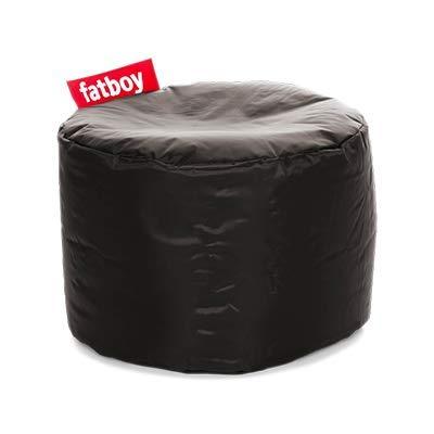 Fatboy® Point Hocker Nylon Black | Runder Sitzhocker in Schwarz | Trendiger Poef/Fußbank/Beistelltisch | 35 x ø 50 cm