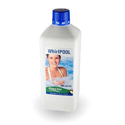 Huwa-San Whirlpool Haushaltsdesinfektion und chlorfreie Wasserpflege und Desinfektionsmittel mit stabilisiertem Aktivsauerstoff (1L für 800L Poolinhalt)