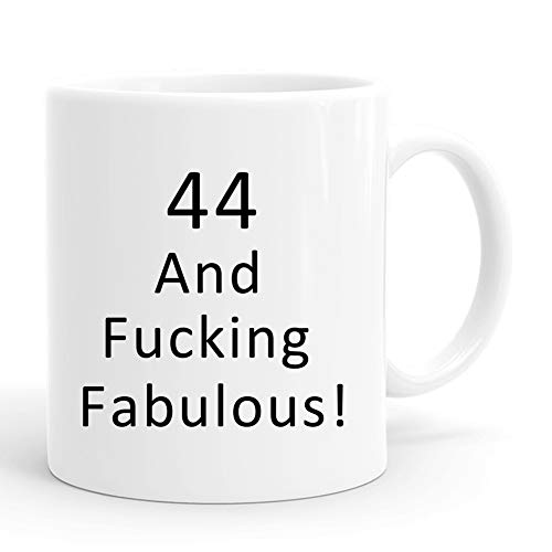 joey 44 and Fucking Fabulous Mug,44th Birthday Gifts for Women,Funny 1976 44 Year Old Birthday Gifts 11 oz Coffee Mugs for Her, Friend, Mom, Sister, Wife, Grandma, Coworker