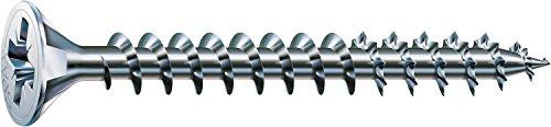 SPAX - Tornillo cincado claro, 4,0 x 80 mm, 200 Unidades