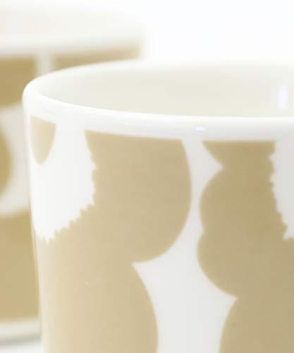 [マリメッコ]コーヒーカップセットコップ2個セットUNIKKOCOFFEECUP2DLW/OHホワイト×ベージュ(82)F(フリー)
