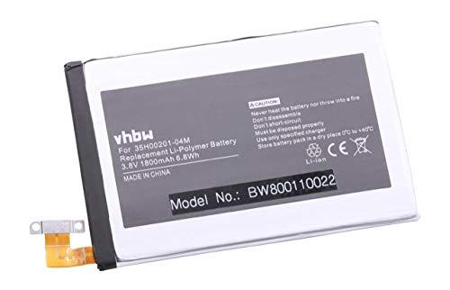 vhbw Li-Polymer Akku 1800mAh (3.8V) für Handy Smartphone Telefon HTC HTL22, M7, One, One 801e, One 801n wie 35H00207-01M, BN07100.