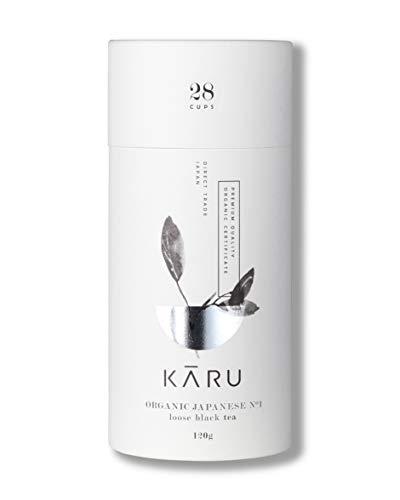 Premium Bio Schwarztee N°01 von Karu - Schwarzer Tee aus Japan - Geschenk-Verpackung - 120g loser Tee