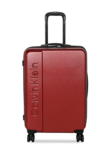 Calvin Klein Manhattan 4.0 Hardside Spinner Luggage with TSA Lock, Deep Red, 24 Inch