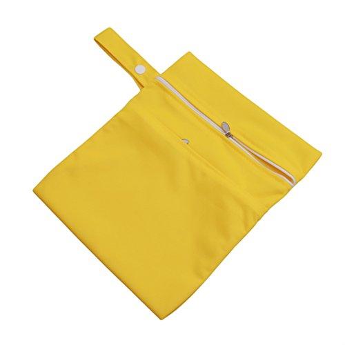 ODN Beutel Organisatoren Outdoor-Reisen wasserdichtes Diaper Bag mit Doppel Reißverschluss,Gelb