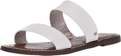 Sam Edelman Women's Gala Slide Sandal Bright White Leather 7 Medium US