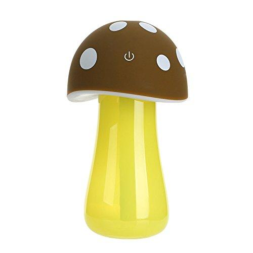 Creativo atomizzatore USB mini fungo notte luce umidificatore dell'aria auto ufficio , coffee color
