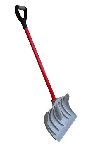 TABOR TOOLS Snow Pusher with Fiberglass Handle, 18 Inch Wide Blade, Snow Shovel with Comfortable D Grip Handle. J219A. (Snow Pusher, Long 35 Inch Handle)