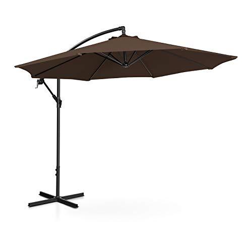 Uniprodo Ampelschirm Uni Umbrella R300BR Gartenschirm (rund, Ø 300 cm, neigbar, braun)