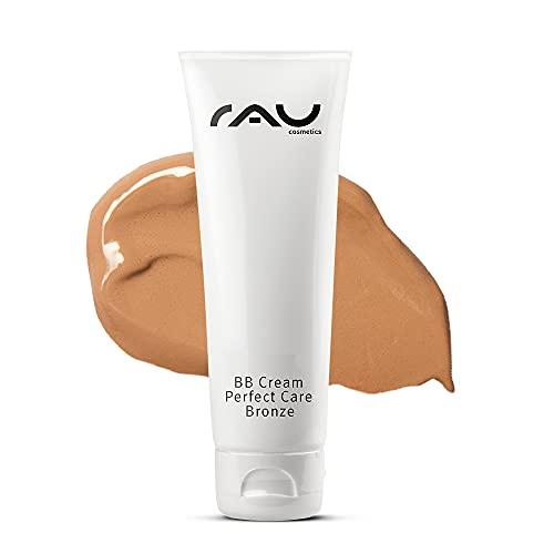 RAU Cosmetics BB Cream Perfect Care Bronze für Trockene, Unreine, Normale Haut 75 ml - Make-Up, Pflege, UV-Schutz - Getönte Tagescreme mit Zink, Vitamin E, Mandelöl, Panthenol & Traubenkernöl