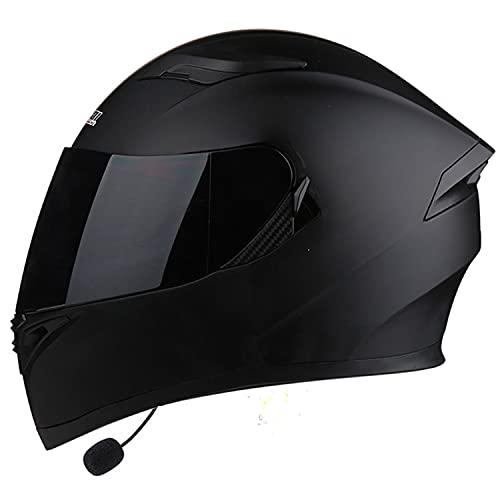 Bluetooth Casco Moto Modular Flip Up Casco de Cara con Doble Visera Completa Casco de Motocicleta, ECE Homologado Cascos de Motocross Transpirable y cálido para Mujer Hombre Adultos (Size:L=57-60CM)