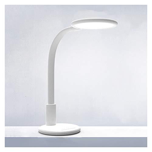 lámpara de mesita de noche Lámpara de escritorio LED Lámpara de escritorio de oficina regulable con vigilancia con 9 modo de luz, recordatorio de reposo, cama noche de cama con control táctil lámparas