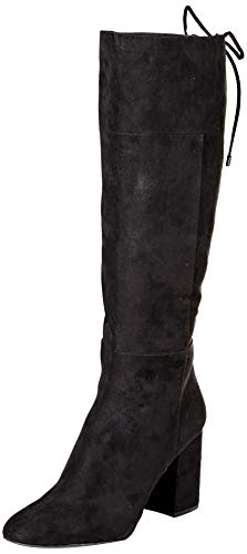 Kenneth Cole New York Women's Corie Lace Up Knee High Boot, Black, 8.5