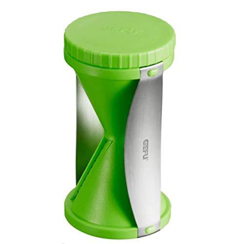 Gefu ge89303Spirelli Taille-légumes Acero Inoxidable 12,5x 7,5x 16cm, Acero Inoxidable, Verde Oscuro, 12.5 x 7.5 x 16 cm